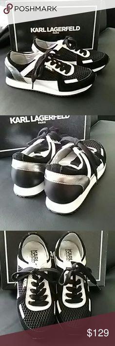 Karl Lagerfeld Black net suede Karl Lagerfeld Shoes Sneakers