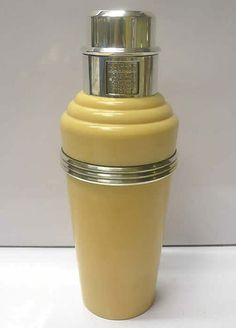 Bakelite Recipe Cocktail Shaker 1930s
