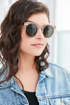 Quay Fleur Round Cat-Eye Sunglasses - $45.00
