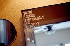 Mirror / Bathroom Wall Decal