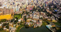 Vista aérea de la ciudad de Daca