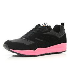 Black neon chunky sole trainers #riverisland #rimenswear