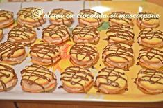 Paleuri cu crema de ciocolata si mascarpone Doughnut, Cereal, Muffin, Cooking Recipes, Sweets, Cookies, Breakfast, Desserts, Food