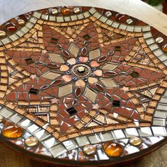 Glass mosaic mandala dish brown gold and copper | Etsy Mosaic Tray, Mosaic Glass, Bamboo Dishes, Copper Accents, Rainbow Swirl, Gold Glass, Mandala Pattern, Dichroic Glass, Mosaics