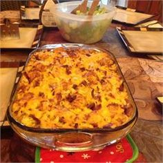 Broccoli Mac and Cheese with Bacon and Potato Nugget Topping - Allrecipes.com