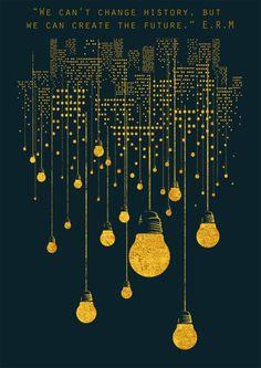 Erwin McManus Inspirational quote light bulb