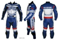 SUZUKI MOTOR BIKE LEATHER JACKET SUIT… A brand-new, unused, and unworn item (including handmade items) in the original packaging…. Gender:Men's… Material:Leather Cowhide… Size:S,M,L,XL,2XL,3XL… Colour:same as picture.. Protection:Back-shoulders-elbow-hips..… Price : $ 240.00