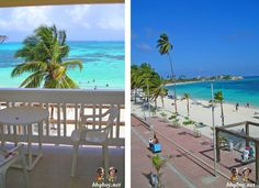 view from balcony in San Andres, Colombia