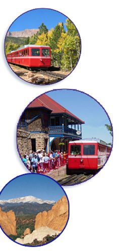 Pikes Peak Cog Railway 719.685.5401 - I did this as a kid.  Maybe we should do this with our kids one of these summers.
