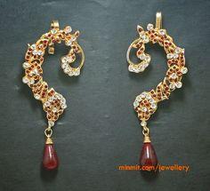 Tanishq Kundan Jewellery | Ruby Earrings from Tanishq