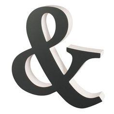 Buchstabe & Deko groß - grau 40cm - Superliving