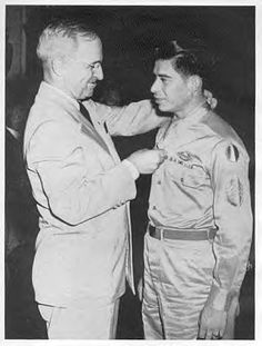 Staff Sergeant Marcario Garcia[ (January 20, 1920-December 24, 1972) born in Villa de Castaño, Mexico, was the first Mexican immigrant to receive the Medal of Honor, the United States' highest military decoration. He received the award for his heroic actions as a soldier during World War II.