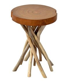 Look at this #zulilyfind! Round Liberte Side Table #zulilyfinds@tonjaamen
