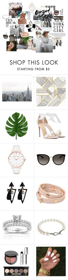 City style by kaoriihayashi on Polyvore featuring Alexandre Birman, Abbott Lyon, Tory Burch, Gucci, Annello, Bobbi Brown Cosmetics and H&M