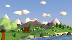 Low-poly landscape by orliq