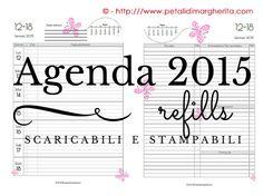 Agenda 2015 - Free Printable per Filofax A5 - Petali di Margherita