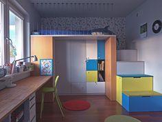 Pokój dziecięcy w mieszkaniu na Bemowie. Projekt - Ewa Wójcik. Zdjęcie - Czynne Marek Wołynko http://czynnefilmy.pl