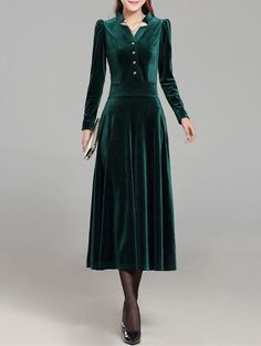 Midi <b>Velvet High</b> Waist Dress In <b>Black</b> | Twinkledeals.com