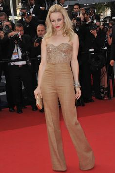 Rachel McAdams - Champagne Outfit