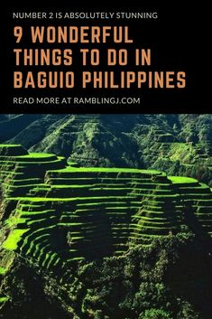 9 Wonderful Things To Do In Baguio Philippines. Number 2 is Absolutely Stunning. Despite being highly urbanized, the city of Baguio remains as one of Luzon's most natural cities. Check out the best things to do in Baguio City and be in awe in this cool ar Baguio Philippines, Visit Philippines, Philippines Culture, Philippines Destinations, Philippines Travel Guide, Philippines Vacation, Philippine Tours, Philippine Holidays, Viajes