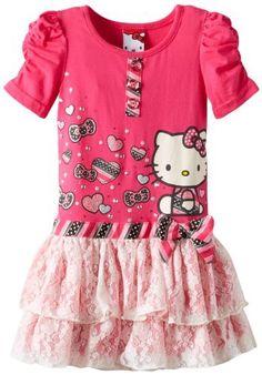 Hello Kitty Girls 2-6X Dress with Cinched Sleeves, http://www.amazon.com/dp/B00DZTU7CO/ref=cm_sw_r_pi_awd_A18Dsb04T6XWW