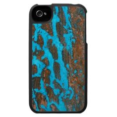 Cool Turquoise & Brown Pattern iPhone 4 Case from Zazzle.com