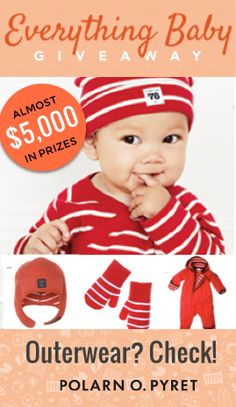 A relative newcomer to the US, Polarn O Pyret has been outfitting little Swedish babies since WE were babies.  We pretty much love everything about them, but what truly stands out is their commitment to quality: they want to see their coats and clothes passed from brother to sister, and cousin to cousin. (How great is that?!) Want to win $500 to spend at Polarn O. Pyret (and everything else you need for a baby)? Enter at wee.co/win from August 10 to August 20! #everythingbaby