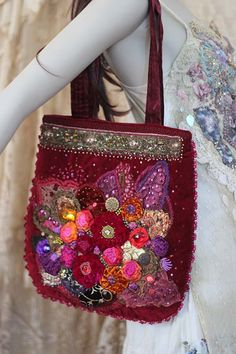 Renaissance ornate wearable art romantic purse by FleursBoheme