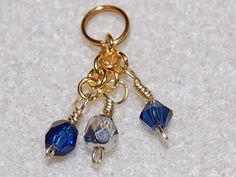 Blue and Gold Necklace Charm