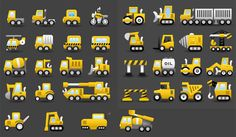 34 Transportation Equipment Vector Icons Set - http://www.dawnbrushes.com/34-transportation-equipment-vector-icons-set/
