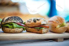 Italian sandwiches in a row. Food & Drink Photos