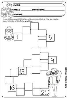 Brojevi do 20 Kindergarten Math Worksheets, Preschool Learning Activities, Preschool Activities, Kids Learning, Writing Numbers, Math Numbers, Math Sheets, Math For Kids, Math Centers