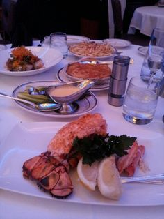 Cold water lobster tail and King crab from Oceanaire...with sides!