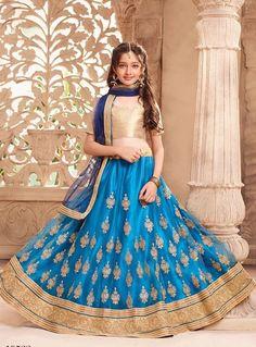 #blue  #embroidered dered #lehenga |blue colour net lehenga | occasional wear | half sleeves |navyblue nazneen net dupatta |