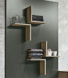 Interior design Contemporary Floating Shelves, Ensemble mural composable modulable Sistema Magnetika Collection Magnetika elementi by Ronda Design Interior Diy Furniture, Furniture Design, Furniture Projects, Corner Furniture, Homemade Furniture, Modular Furniture, Furniture Market, Furniture Movers, Living Furniture