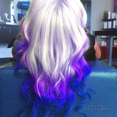 Light and dark purple