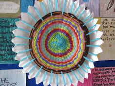 Paper plate weaving craft, went along with the study of Native Americans