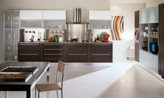 Modern White kitchen colorful accessories