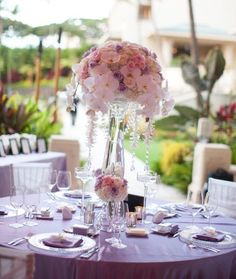 Wedding reception centerpiece idea; Featured Photographer: Joanna Tano Photography