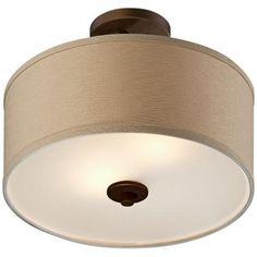 "Brushed Bronze Finish Semi-Flush 15"" Wide Ceiling Light@Lamps Plus $129.99"