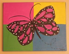 Original Acrylic Painting Butterfly by AnnesArtShoppe on Etsy, $65.00