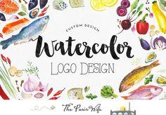 custom logo design watercolor flower logo wordpress blog logo photography logo wedding logo design boutique logo etsy shop logo design #LogoDesign #websitelogo #artisanbranding #boutiqu