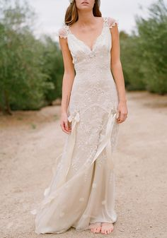 Get Wild And Grand With Country Style Wedding Dresses : Claire Pettibone Country Chic Gown Rustic Wedding Gowns, Vintage Inspired Wedding Dresses, Used Wedding Dresses, Wedding Dress Sizes, Chic Wedding, Trendy Wedding, Bridal Dresses, Lace Wedding, Dress Wedding