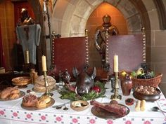 Tips on creating the perfect Medieval-themed meal for your next event!  Tudor period focus, but great for general medieval parties, too!  (Note: jousting and knights not included, but encouraged.)