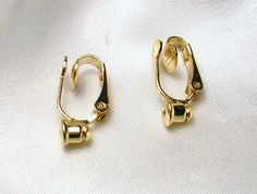 FREE SHIPPING IN USA- CLIP ON EARRING CONVERTERS for POST EARRINGS --REUSABLE!