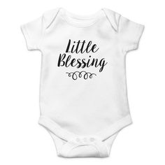 Little Blessing Onesie - Best Picture For baby onesies For Your Taste You are looking for something, and it is going to te - Cute Baby Onesies, Baby Shirts, Cute Baby Clothes, Baby Girl Onesie, Boy Onsies, Newborn Onesies, Baby Newborn, Gender Neutral Baby Clothes, Little Blessings