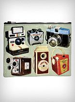 Vintage Camera Print Pouch at PLASTICLAND