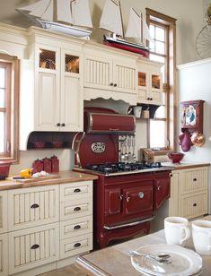 Armoires de cuisine champêtre en merisier | Québec Simard cuisine et salle de bains