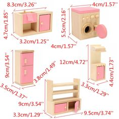 Crafts Furniture Wooden Delicate Dollhouse Furniture Toys Miniature For Kids Children Pretend Play 6 Room Dolls Toys - Kid Shop Global - Kids & Baby Shop Online - baby & kids clothing, toys for baby & kid Family Furniture, Baby Room Furniture, Barbie Furniture, Dollhouse Furniture, Luxury Furniture, Children Furniture, Rustic Furniture, Antique Furniture, Wooden Baby Toys