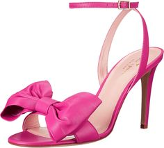 Kate Spade New York Women's Idella Carousel Pink Nappa Sandal. Ensure elegance when you step into these stunning Idella pumps. Soft leather upper. Feminine bow decorates the vamp. Adjustable buckle closure at ankle strap. Leather lining and cushioned footbed. Wrapped heel. Leather sole. Made in Italy. Measurements: Heel Height: 3 1⁄2 in Weight: 6 oz Platform Height: 1⁄4 in Product measurements were taken using size 8, width M. Please note that measurements may vary by size.